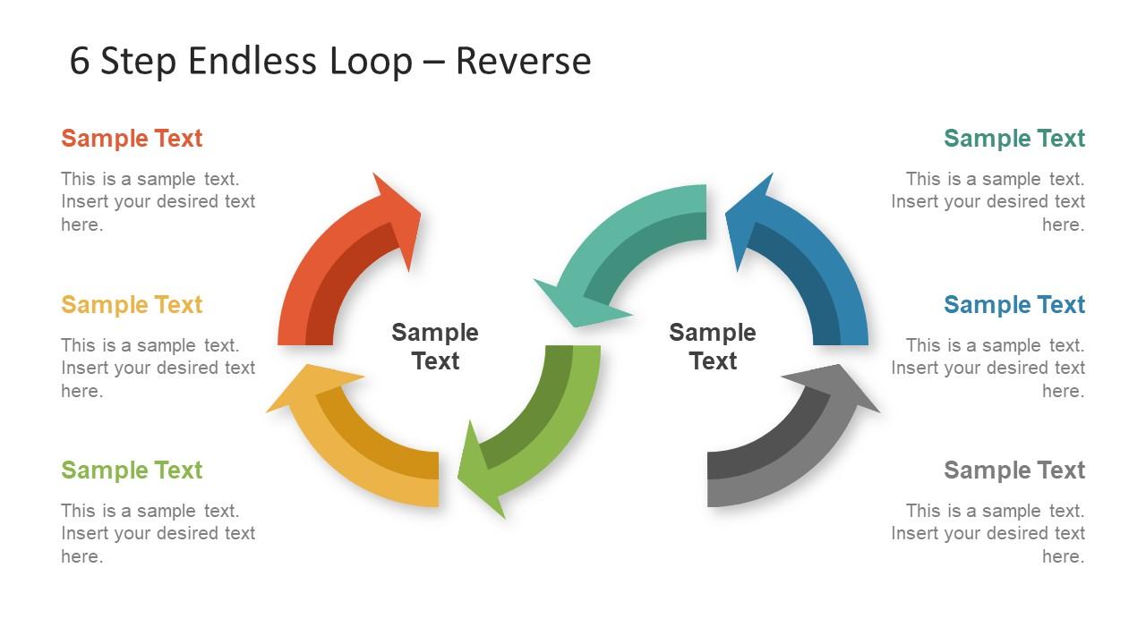 6 Step Endless Loop Powerpoint Template
