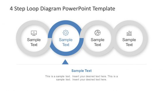 Blue Theme Loop Diagram PPT
