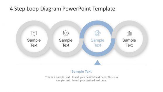 PowerPoint Diagram of 4 Circular Steps