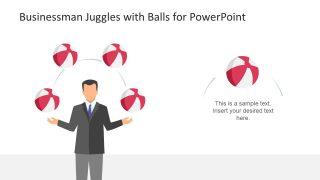 Ball Juggle Businessman Concept