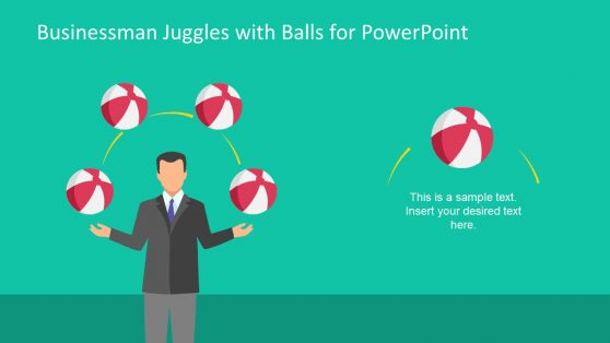 Businessman Juggle Balls Concept Presentation