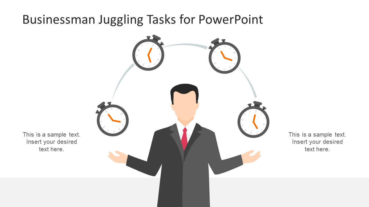 Stop Watch Icons Juggling PowerPoint