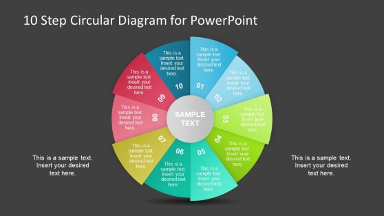 10 Step PowerPoint Circular Diagram