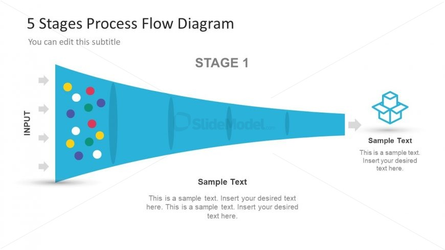5 Stage Vector Template Diagram