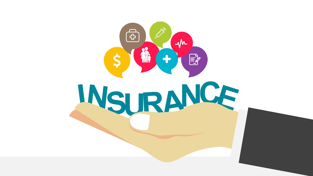 insurance template ppt  Modern Insurance Industry PowerPoint Template - SlideModel