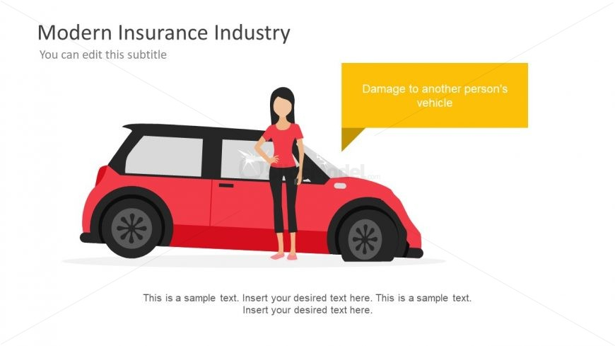 PowerPoint of Car Damage for Insurance