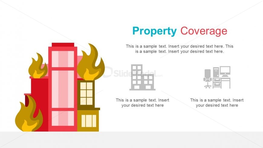 Property on Fire Infographic Icons