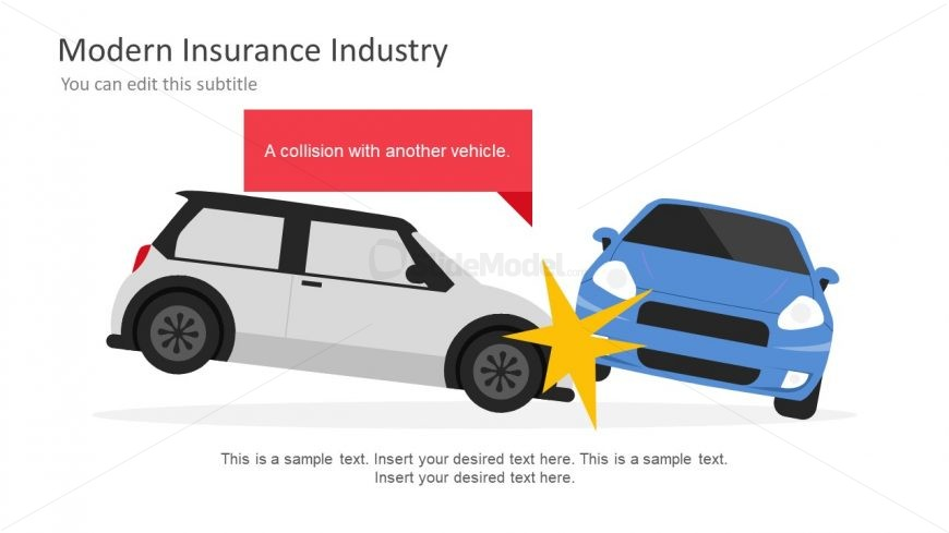 Car Collision Insurance Graphics Slide
