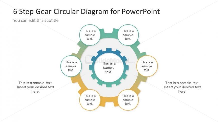 Circular Diagram Template Gear Shape