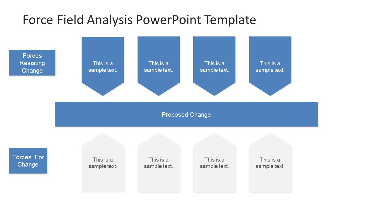 force field analysis powerpoint diagram