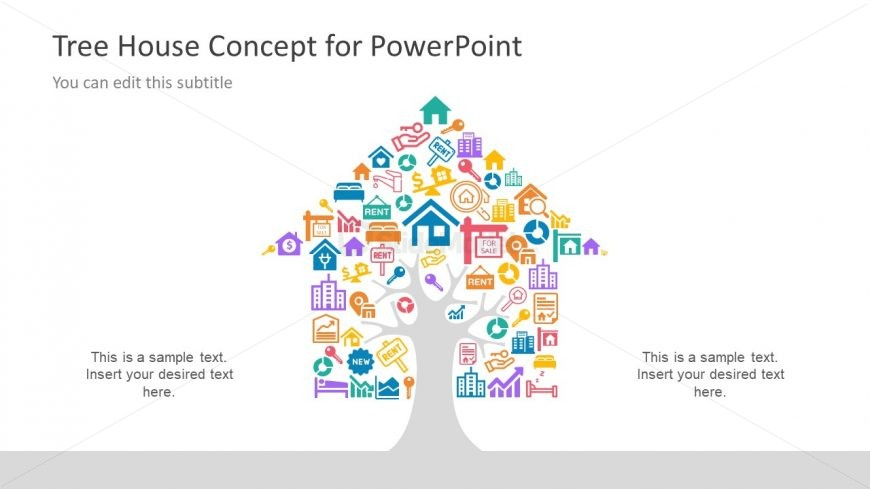PowerPoint Real Estate Icons Slide