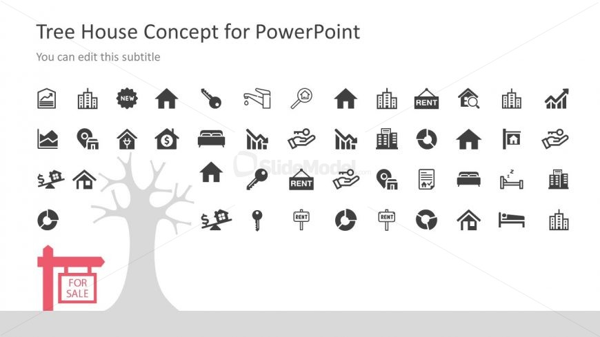 Housing Infographic Icons Slide Template