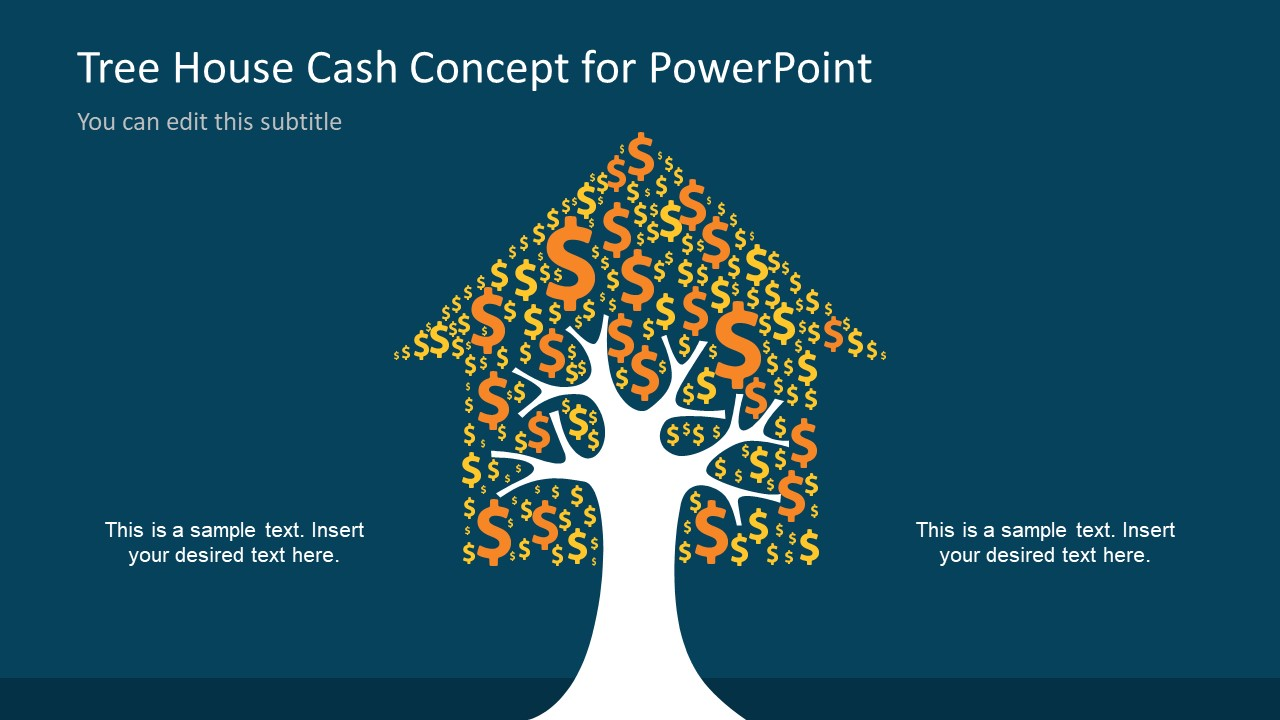 Tree House Cash Concept For Powerpoint