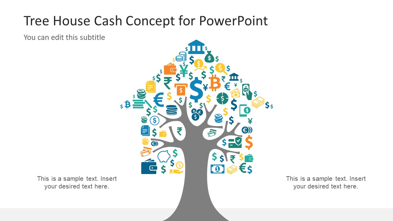 Cash Concept Design Collage PowerPoint