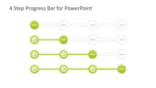4 Step Progress Bar Design for PowerPoint