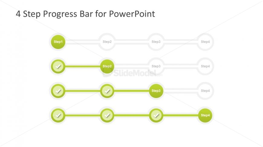 4 step powerpoint diagram for progress