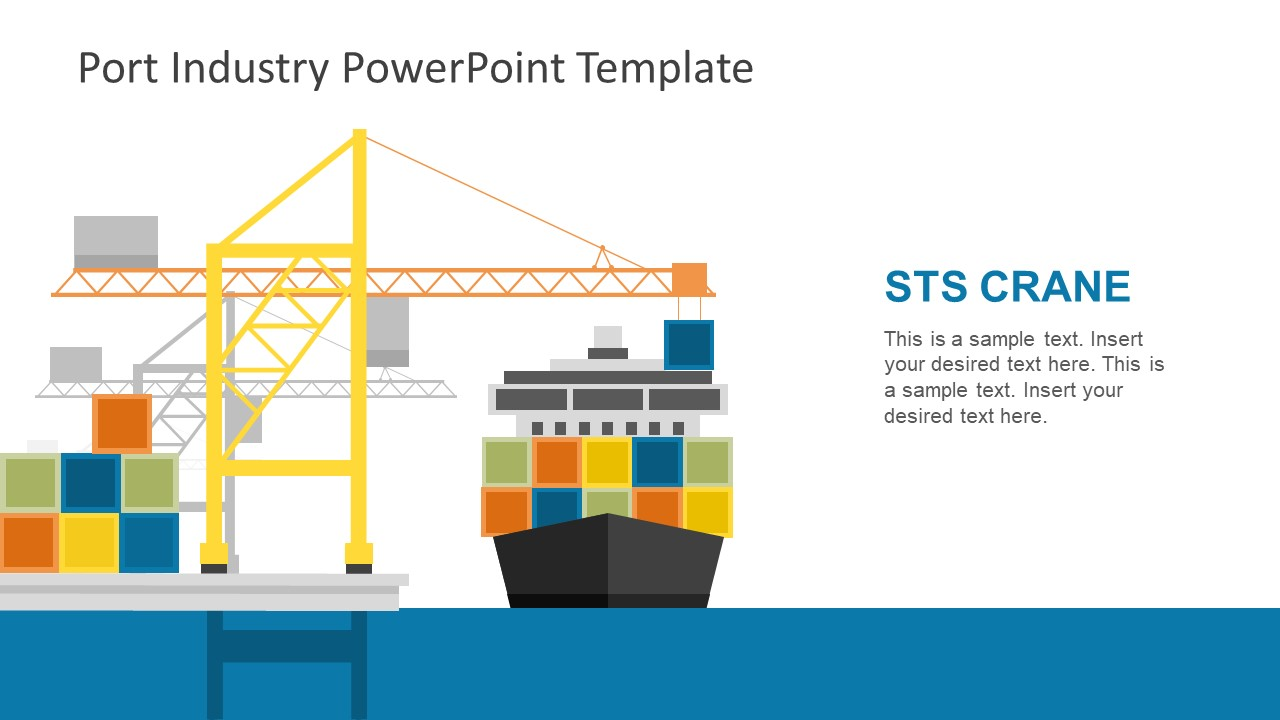 port industry powerpoint template slidemodel