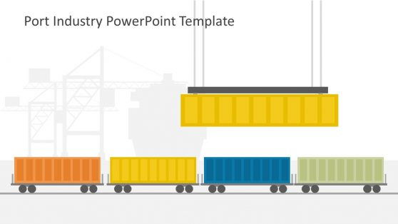 Port Industry Containers Illustration PPT