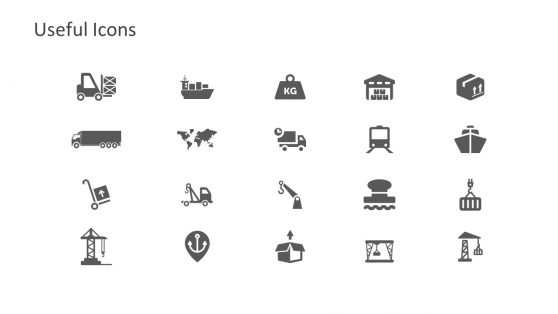 Useful PowerPoint of Port Industry Icons
