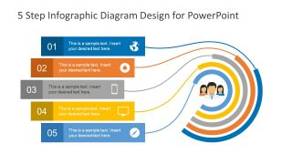 5 Step Diagram Process Cycle PPT