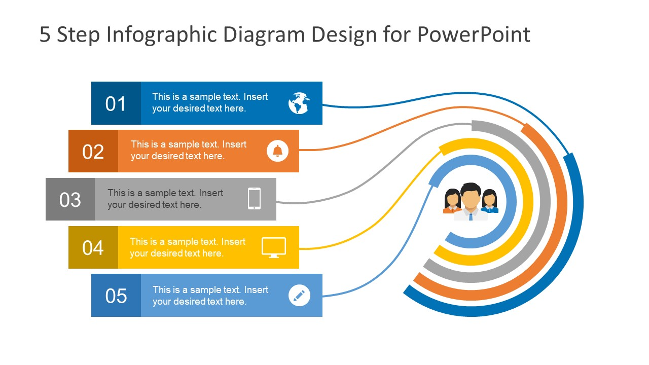 5 step infographic design diagram for powerpoint slidemodel 5 step diagram process cycle ppt ccuart Images
