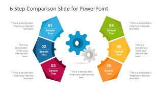 6 Step Modern Comparison Template for PowerPoint