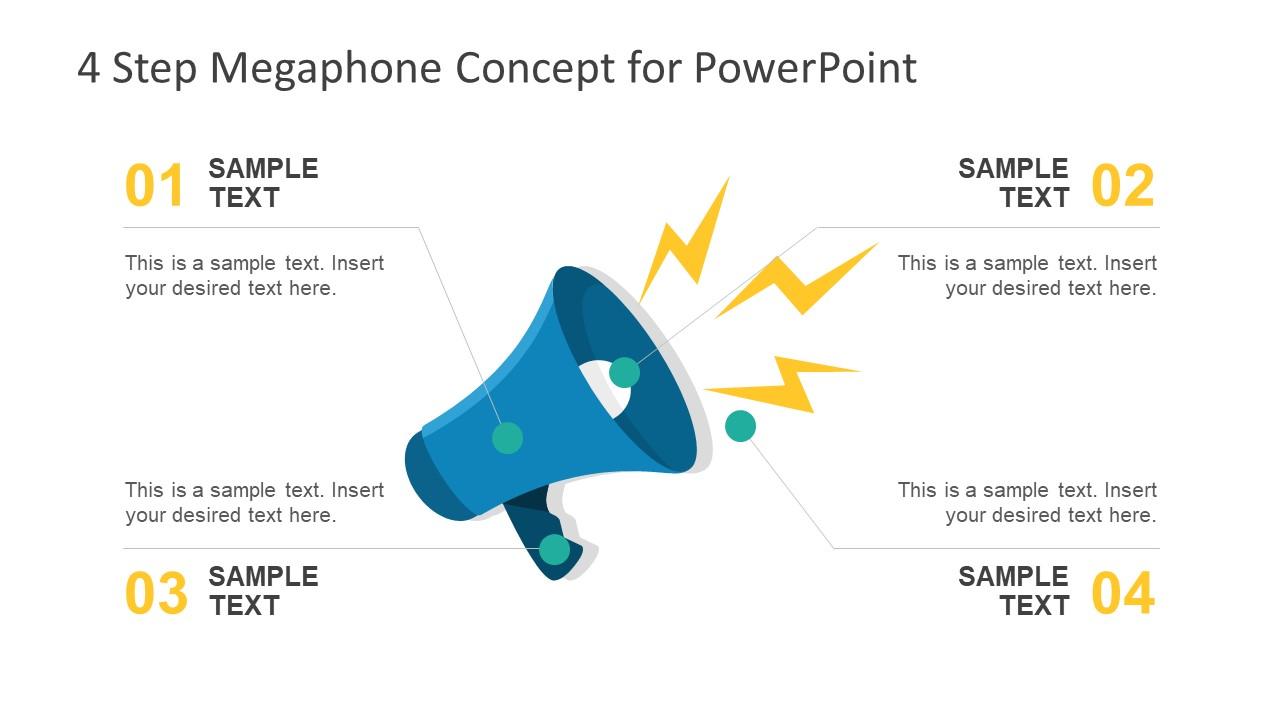 Loudspeaker Diagram Design PPT