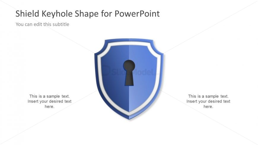 Shield keyhole diagram concept template slidemodel security shield icon with keyhole ccuart Gallery
