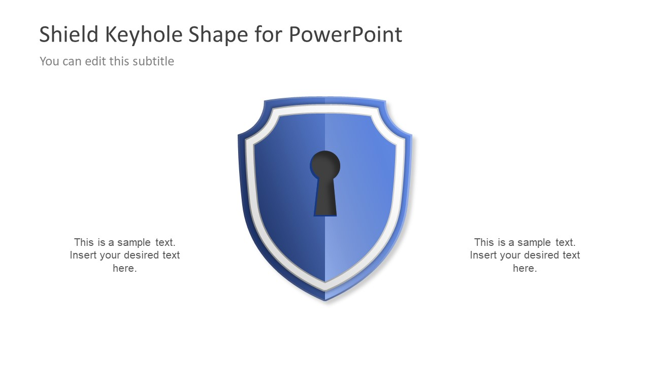 Shield    Keyhole    Diagram    Concept for PowerPoint  SlideModel