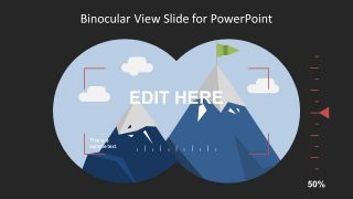 Binocular View Slide Design for PowerPoint