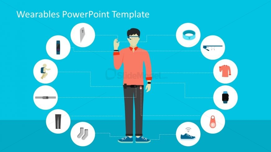 Label Diagram PowerPoint for Wearables