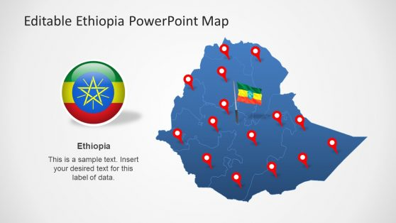 Flag Clipart and Map of Ethiopia