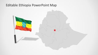 Flag PowerPoint Slide of Ethiopia Map