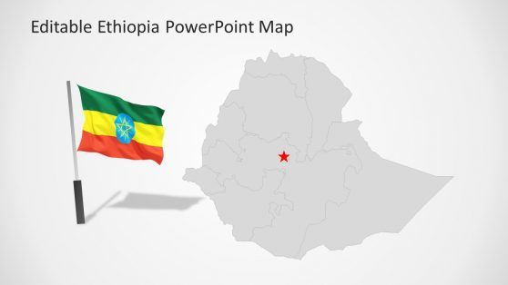 Africa Map of Ethiopia Template