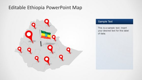 Location Marker Slide Map of Ethiopia