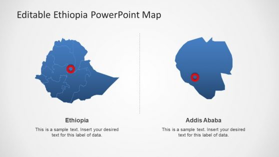 Highlight Addis Ababa City Map PPT