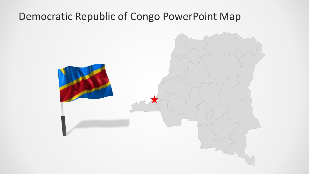 Silhouette Map for Republic of Congo