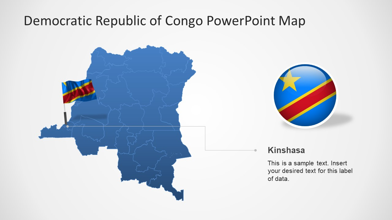 PowerPoint Country Map for Congo