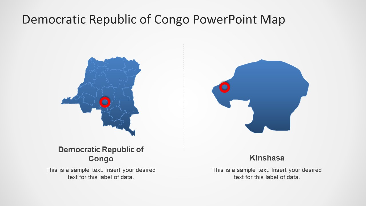 Political Map of Congo PowerPoint