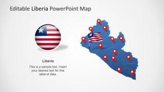 Liberia Editable Map Template