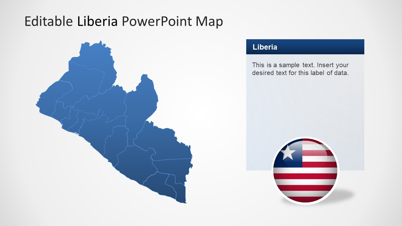 Liberia Map of Provinces PPT