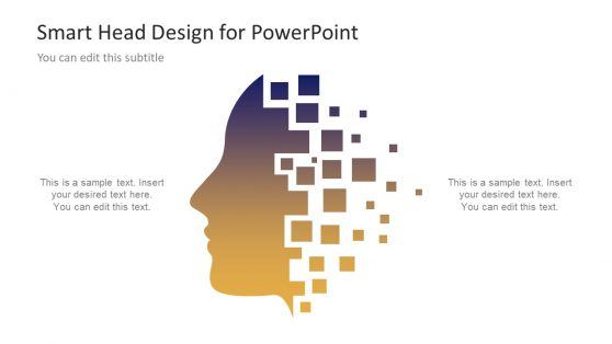 Artificial intelligence powerpoint templates gradient human head technology ppt toneelgroepblik