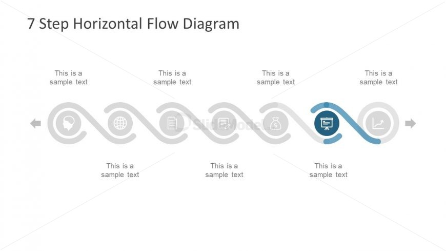 horizontal flow diagram template financials