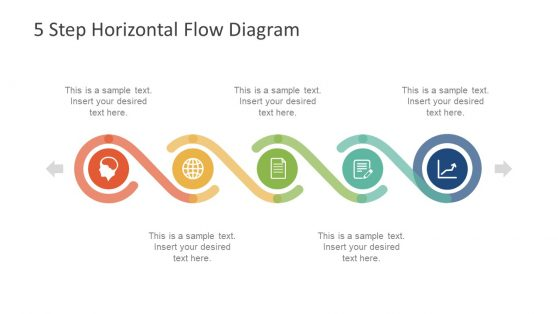Process flow powerpoint templates 5 step horizontal flow diagram for powerpoint toneelgroepblik Gallery