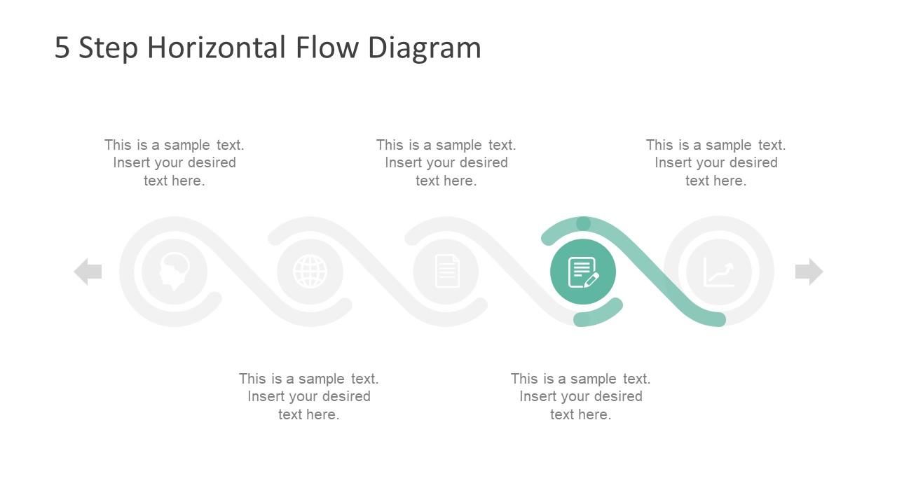 Project Process Diagram Horizontal Flow