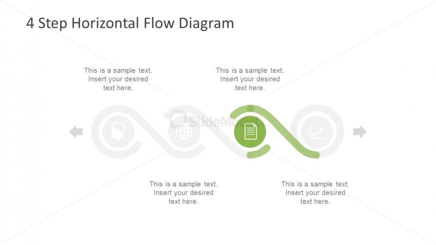Infographic Process Flow Diagram Slide