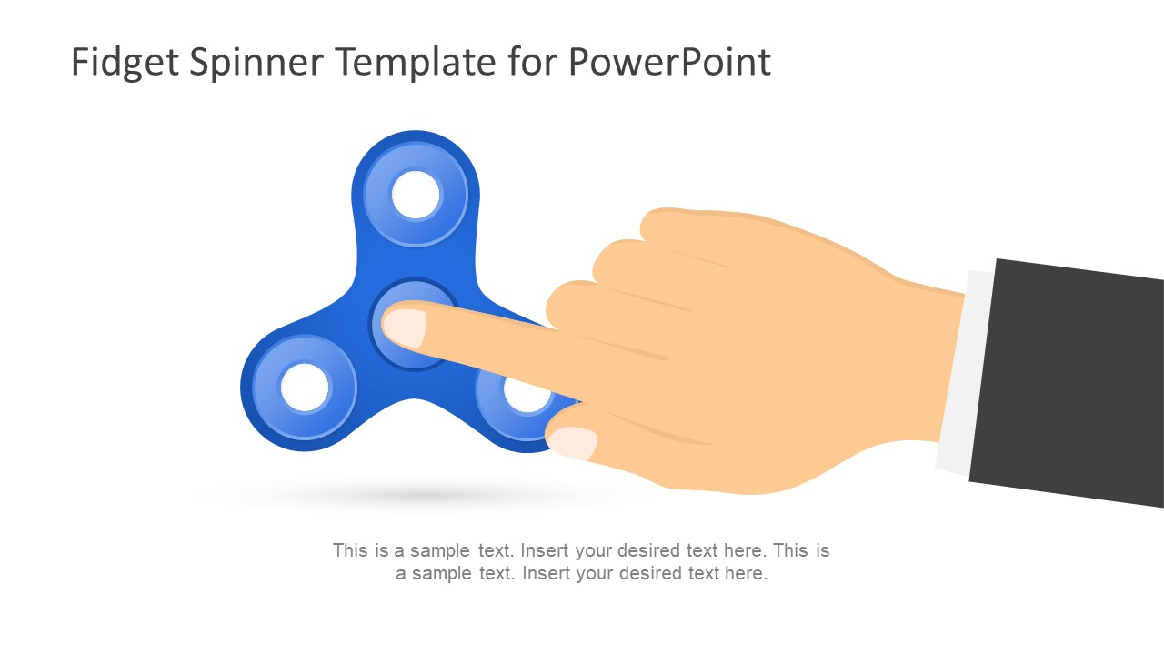 fidget spinner powerpoint template slidemodel