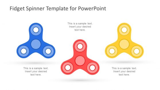 Three Fidget Spinners Slide Icons