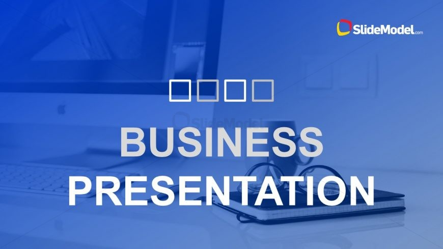 Slides of Business Plan Blue Theme