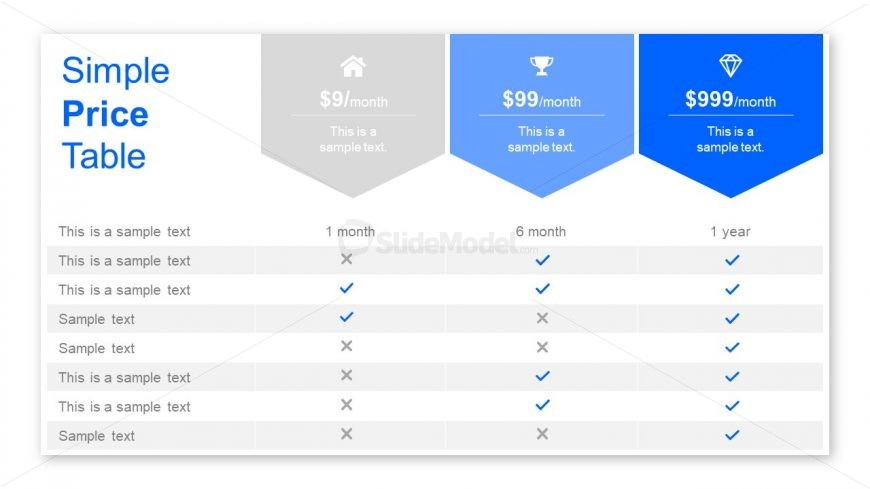 Useful Slide of Table Design Business PPT